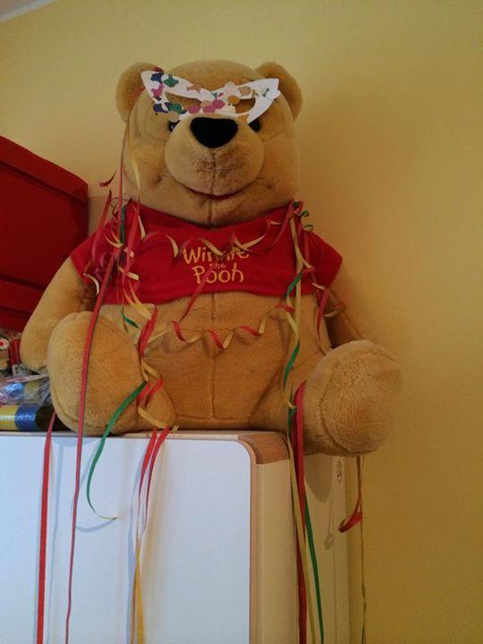 Winnie è pronto per festeggiare